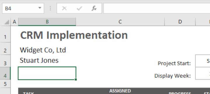 Excel-gantt-chart-template-step-1