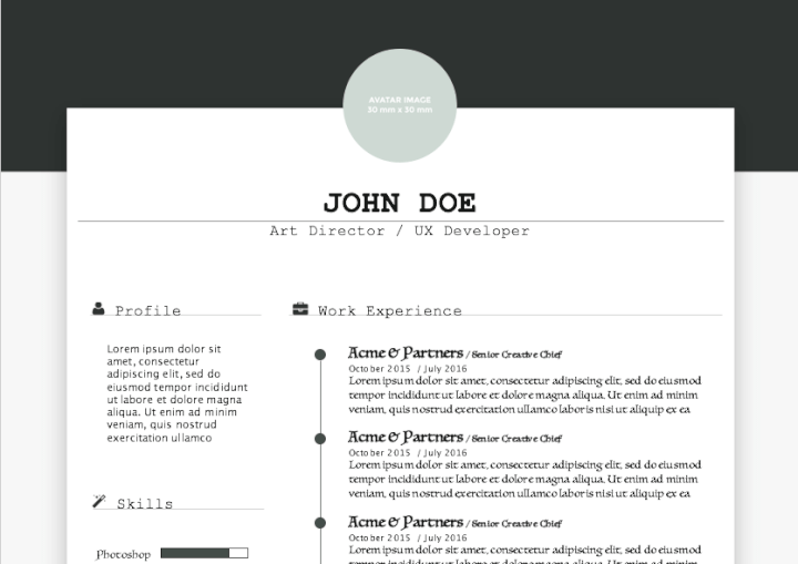 Creative Profile Resume Template